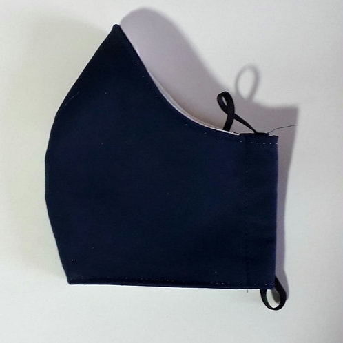 Plain Navy Shaped Mask