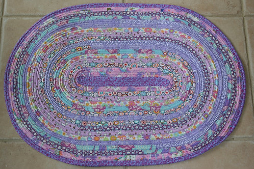 Mix Purples and Pinks Spiral Jelly Roll Rug