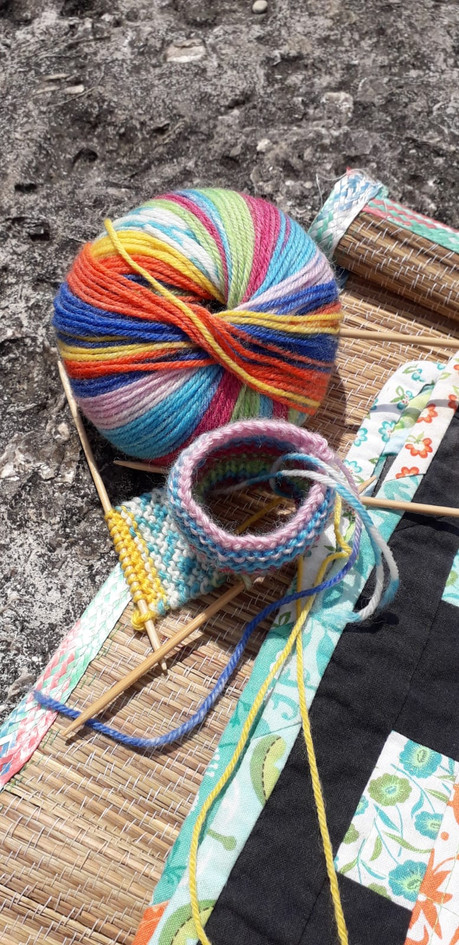 Knitting on holiday