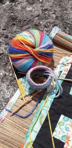 Knitting on holiday
