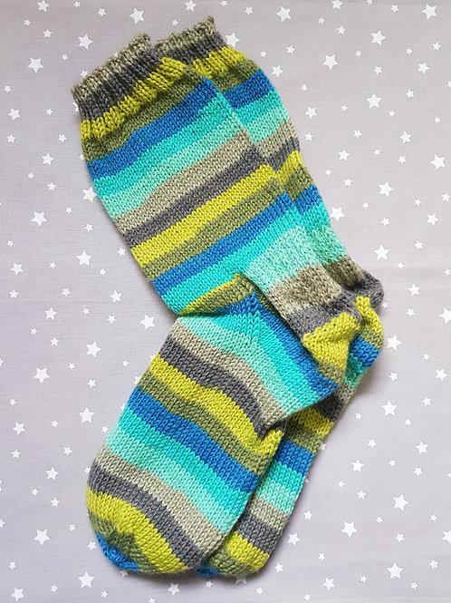 Socks Adult 7-9 - Bright Sea