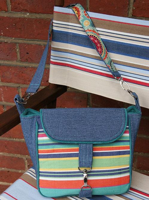 Blue Deck Chair Shoulder Bag
