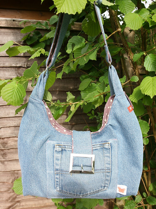 Slouch Denim Shoulder Bag