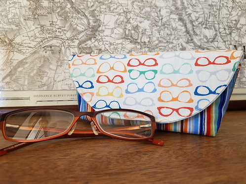 Rainbow and Blue Glasses Case