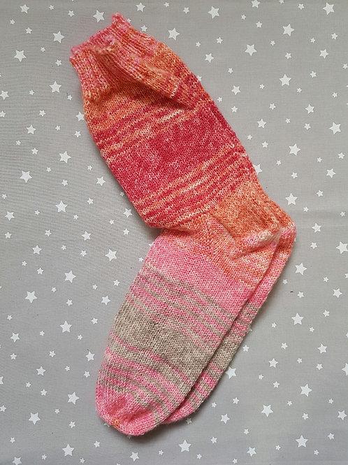 Socks Adult 7-9 - Orange and Pinks