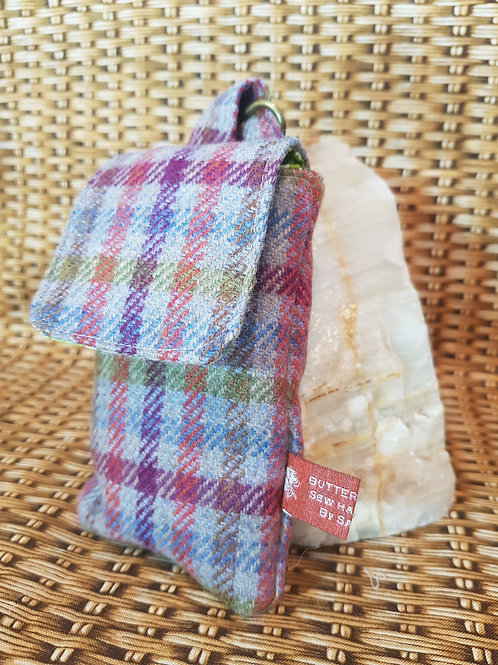 Clip On Pouch Small - Grey Tartan