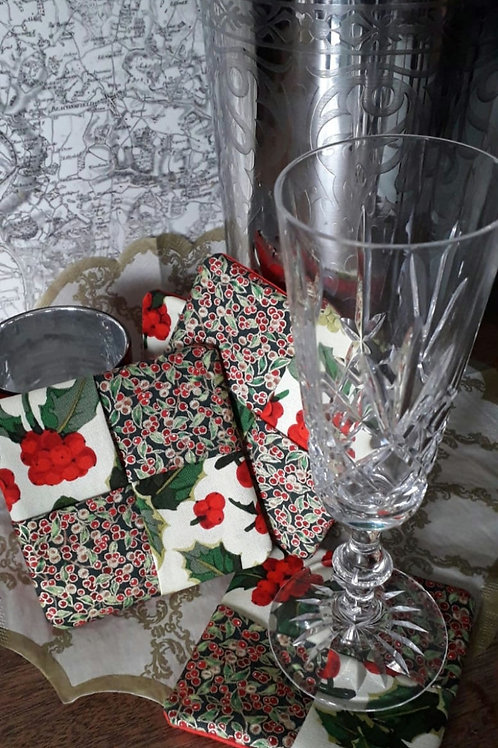Holly Coasters