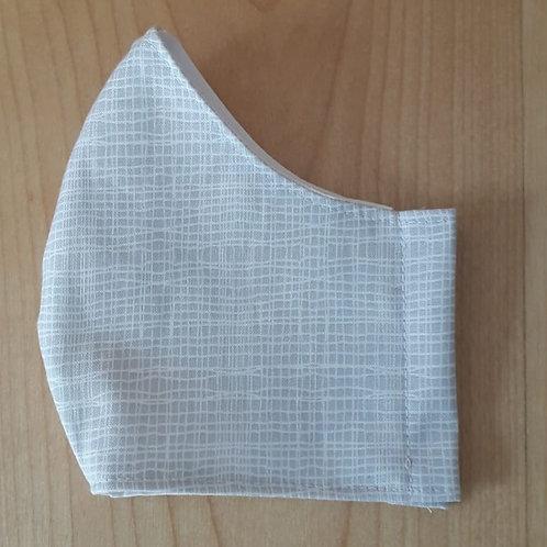 Pale Grey Cross Hatch Shaped Mask