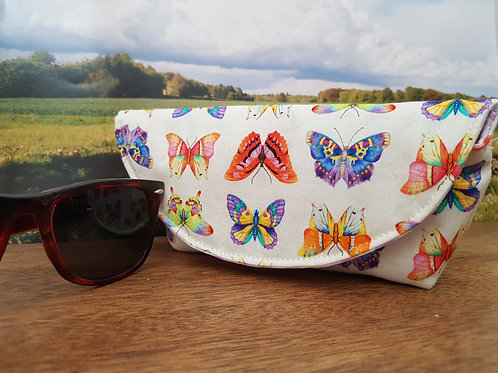 Colourful Butterflies Glasses Case