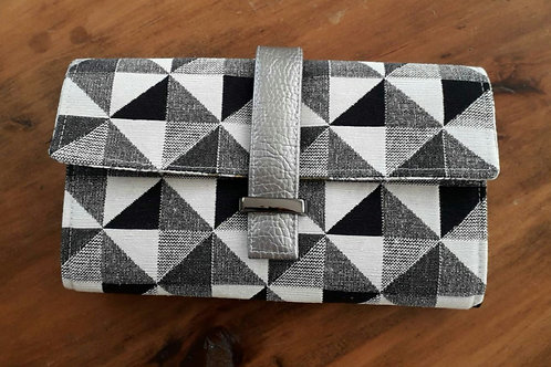 """Worsley Wallet"" - Grey Triangles"