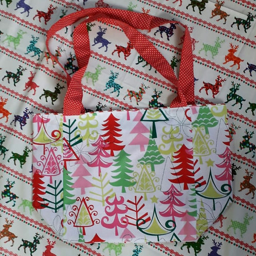 Colourful Tree Christmas Shopper