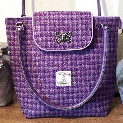 Purple Harris Tweed Tote Bag