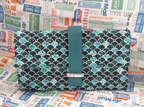 """""""Worsley Wallet"""" - Blue Fish Scales"""