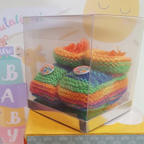 Small Green Rainbow Cosy Toes
