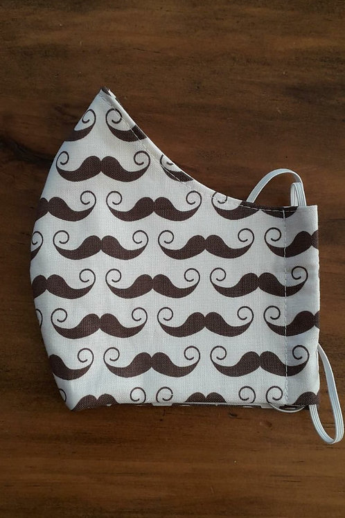 Brown Moustache Shaped Mask