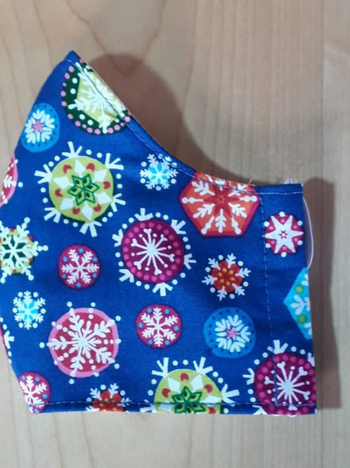 Blue Snowflakes Shaped Mask