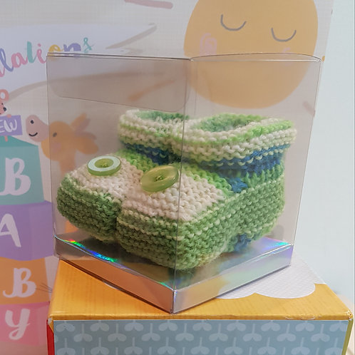 Small Green and Cream Cosy Toes