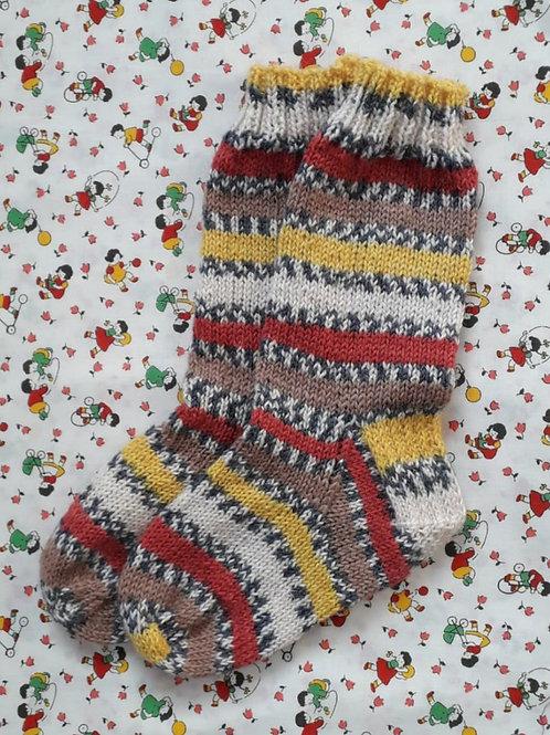 Socks Child 7-9 - Autumn Stripes