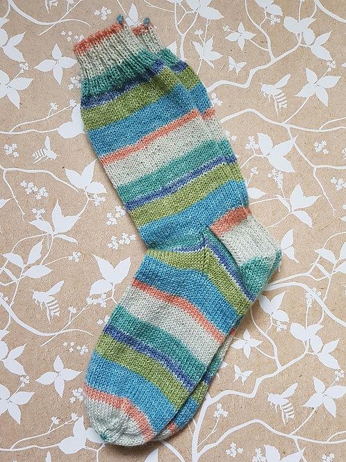 Socks Adult 4-6 - Sea Waves