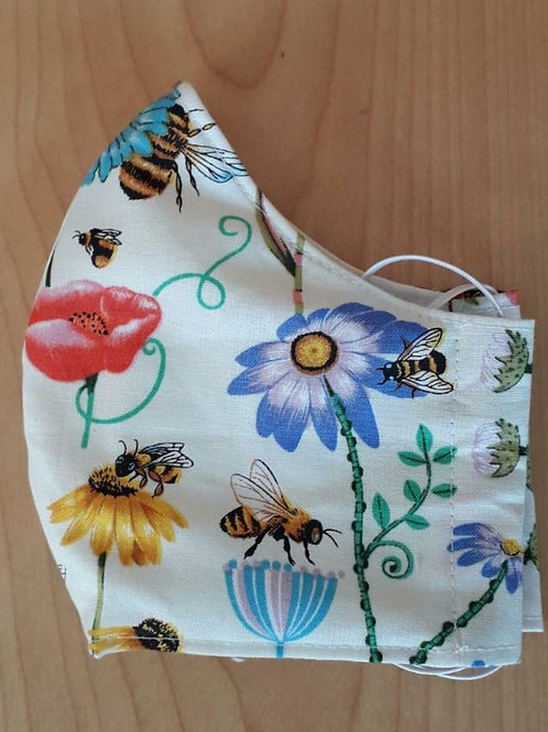 Bees and Flowers Shaped Mask