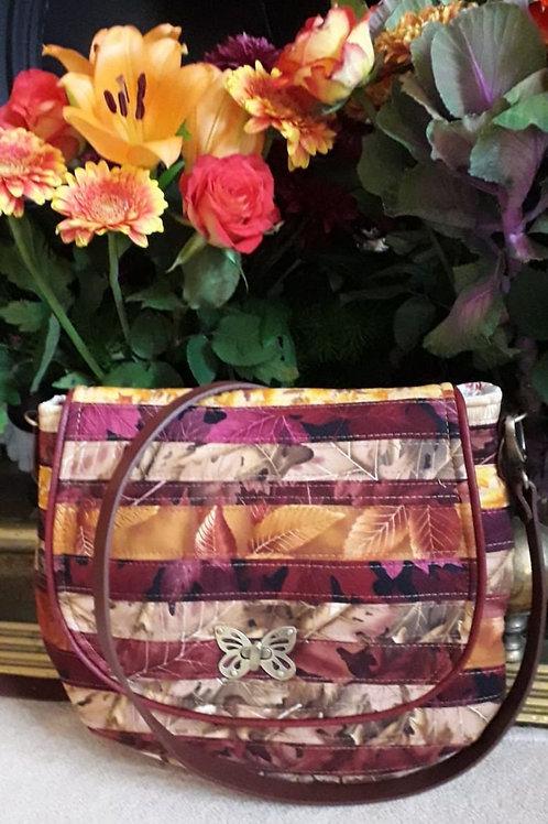 """Millie"" Cross Body Bag - Autumn Patchwork"