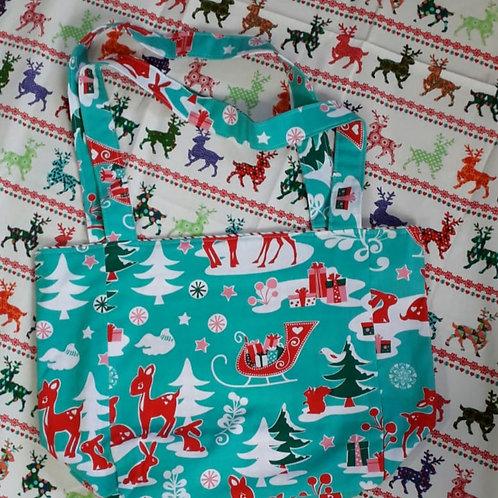 Winter Scene Christmas Shopper