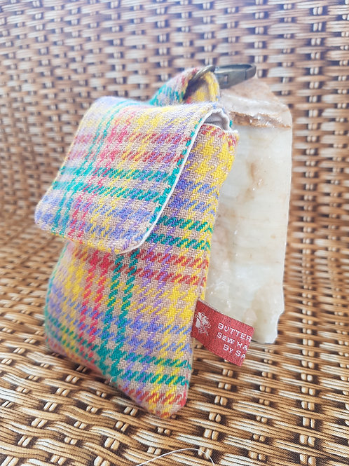 Clip On Pouch Small - Rainbow Donegal Tweed
