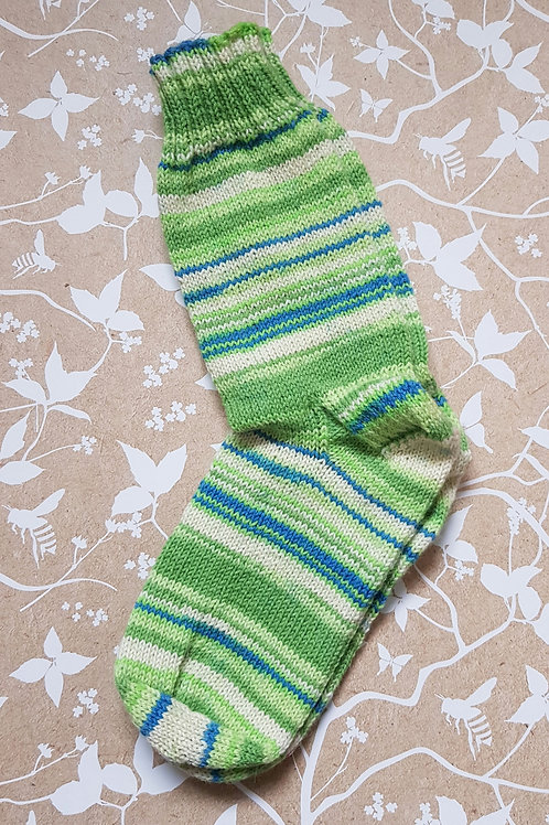 Socks Adult 4-6 - Green and Blue
