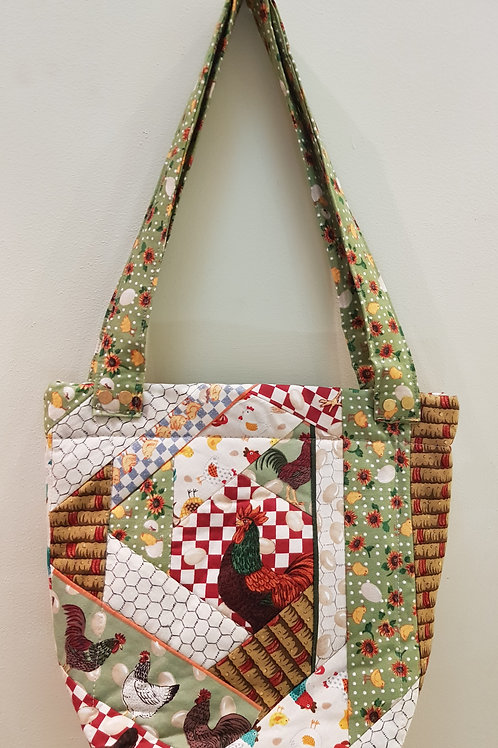 Small Patchwork Chicken Bag