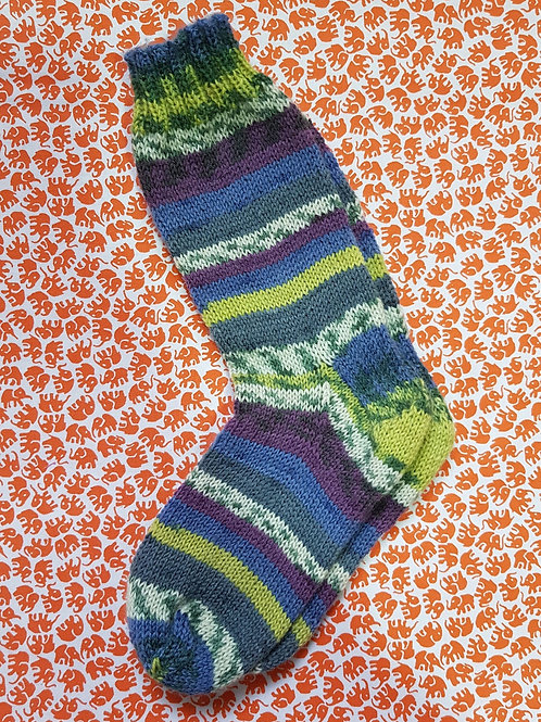 Socks Child 10-13 - Blue and Green
