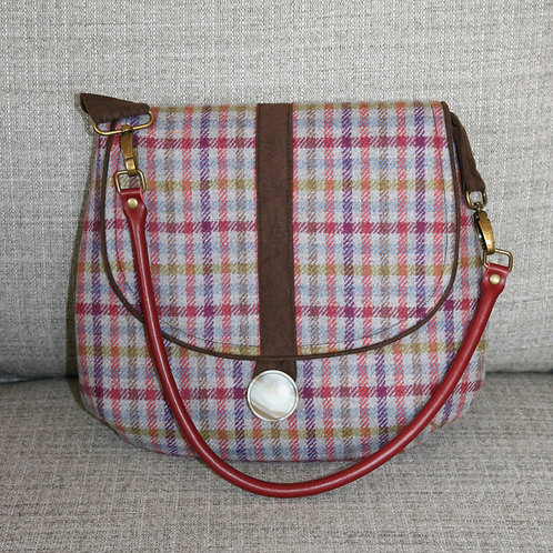 """Millie"" Shoulder Bag - Grey Tartan"