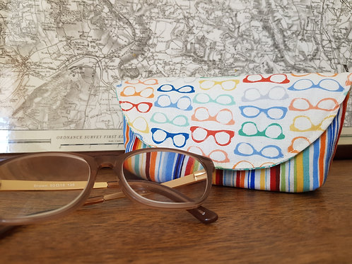 Rainbow and Turquoise Glasses Case