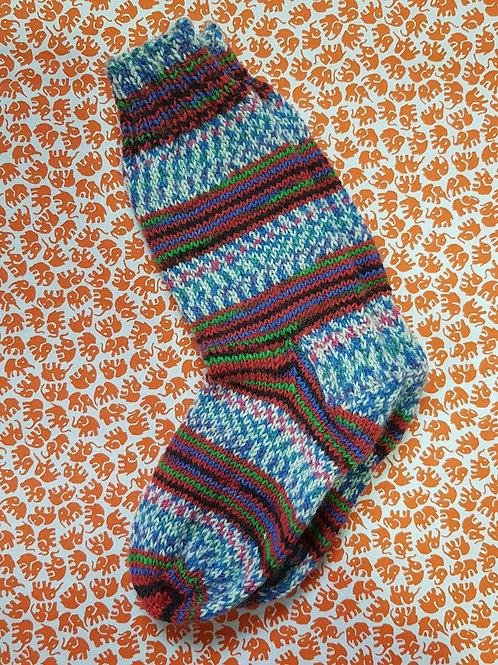 Socks Child 10-13 - Blue and White