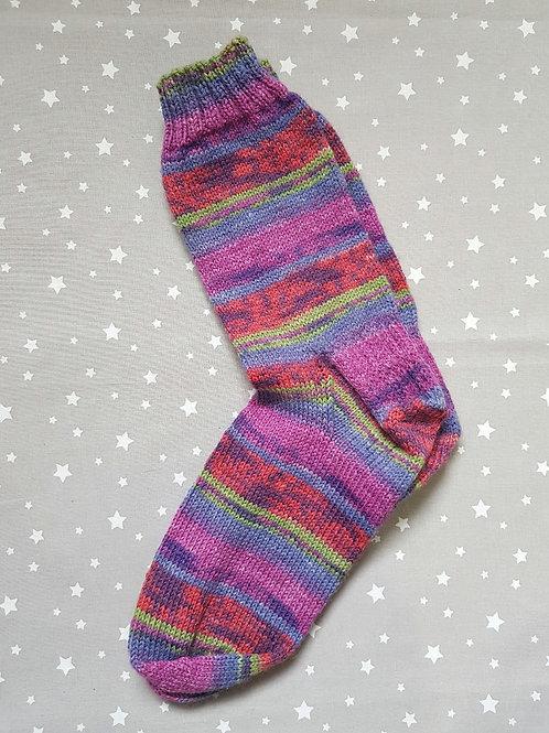 Socks Adult 7-9 - Pinks and Purples