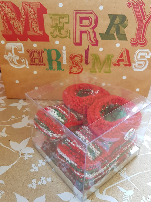 Medium Multi and Red Christmas Cosy Toes
