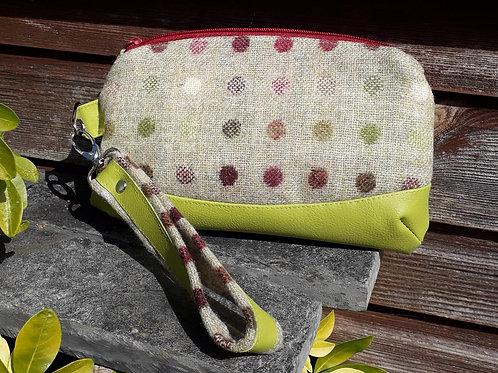 """Clematis Wristlet"" - Lime Green and Abraham Moon Spots"