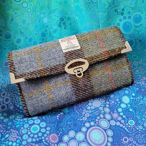 """Worsley Wallet"" - Dusty Blue Plaid"