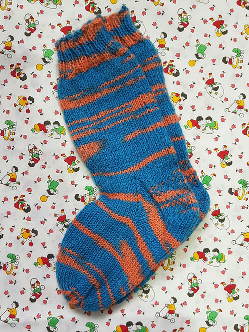 Socks Child 7-9 - Blue and Orange