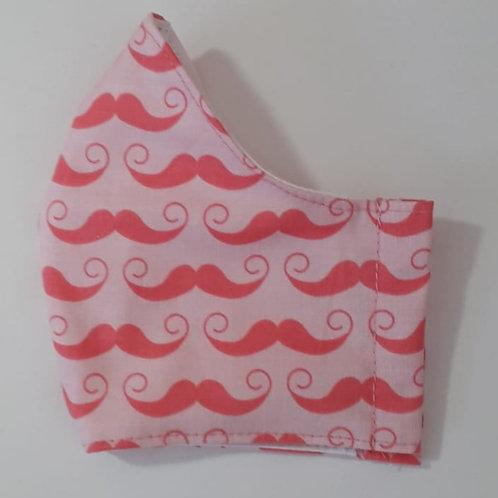 Pink Moustache Shaped Mask