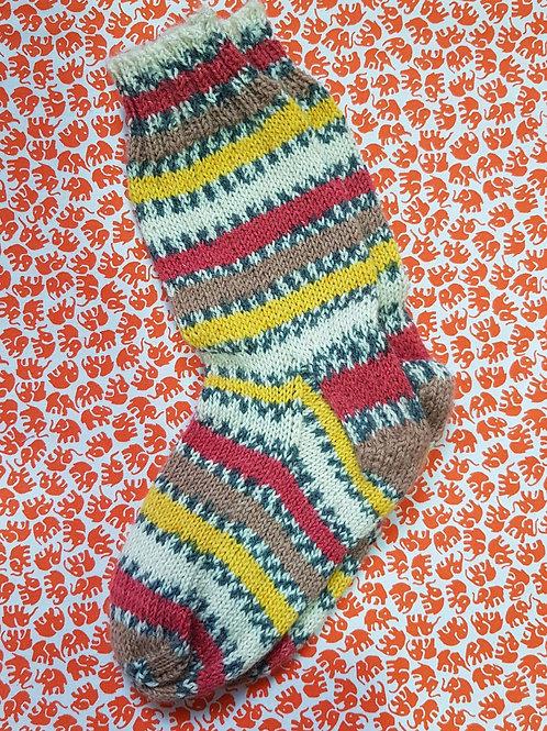 Socks Child 10-13 - Autumn Stripes