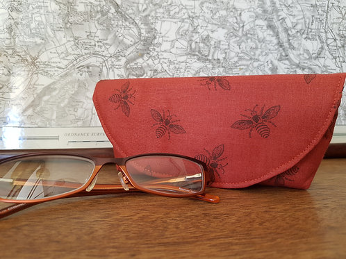 Red Bee Glasses Case