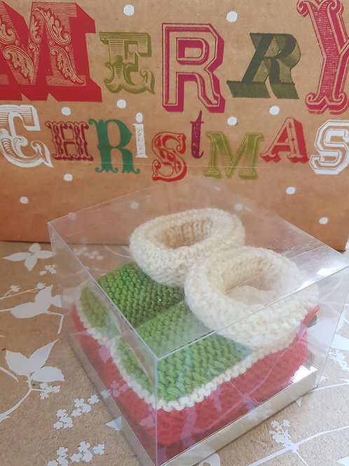 Medium Green and Red Christmas Cosy Toes