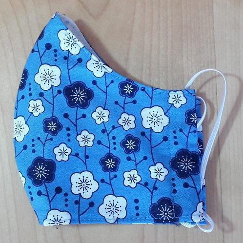 Blue Kimono Shaped Mask