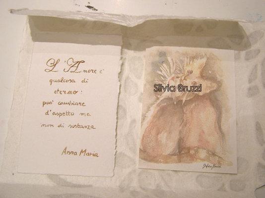 Biglietti/Segnalibri dipinti e scritti a mano