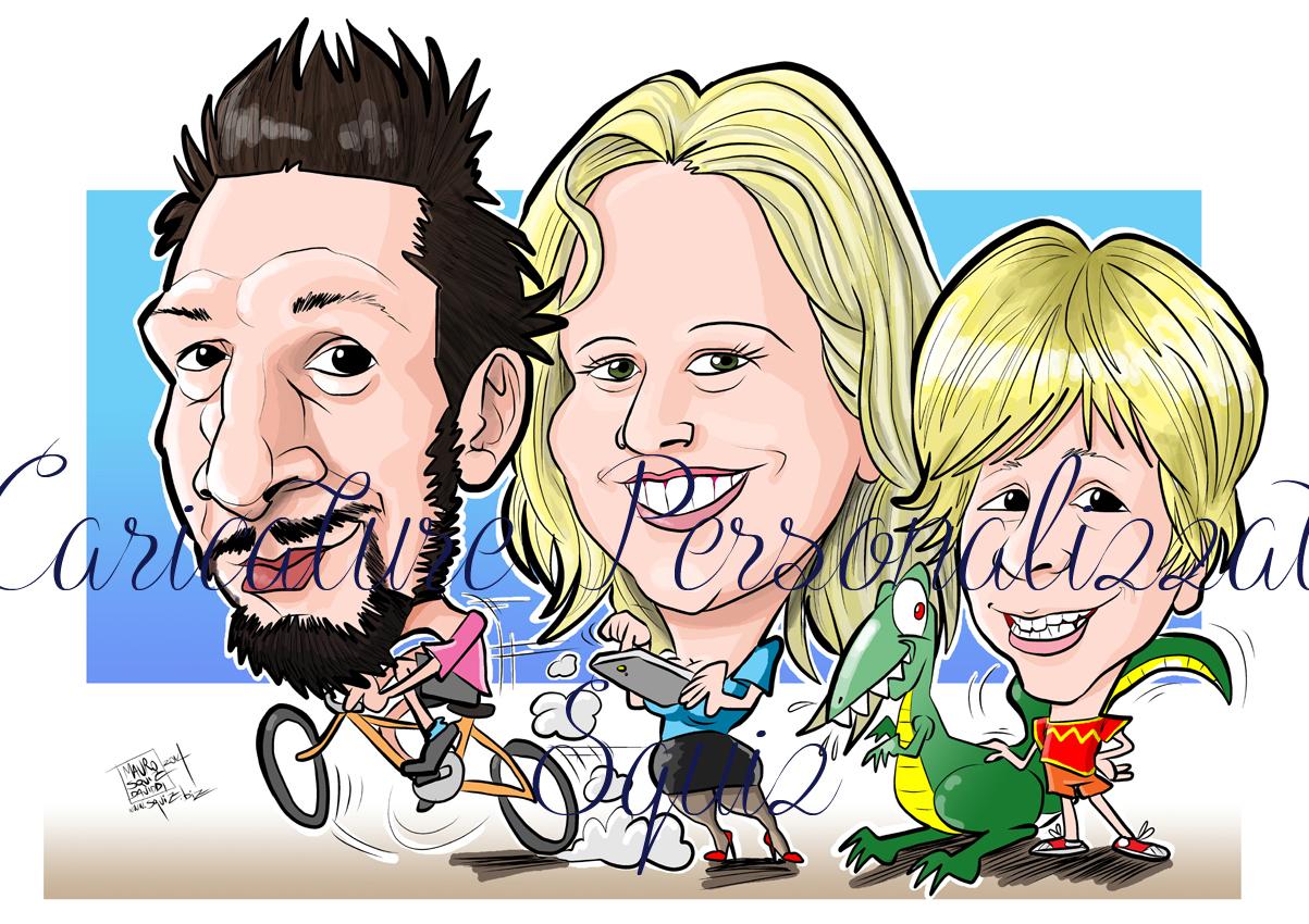 caricatura family