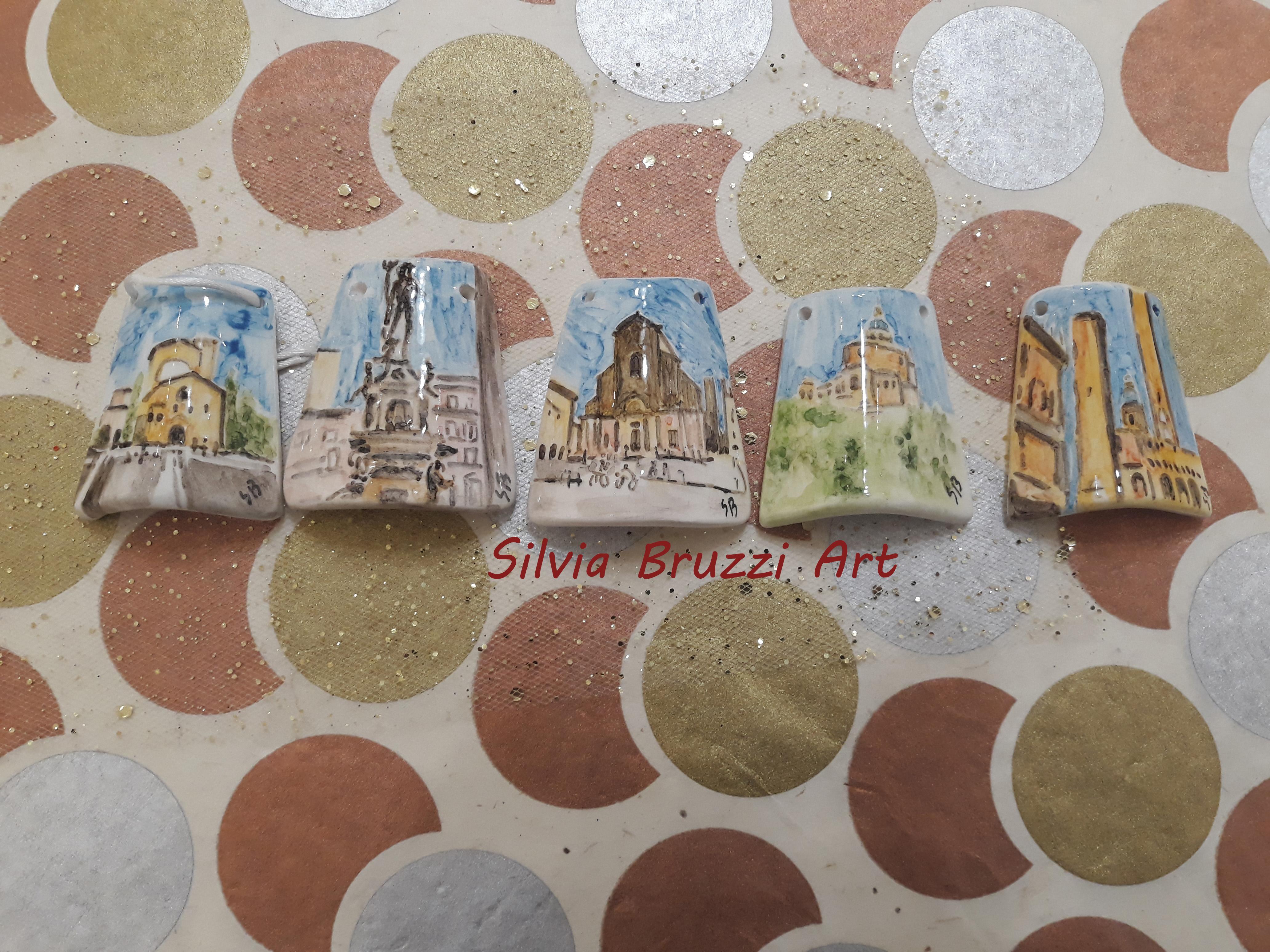 Tegolini dipinti a mano