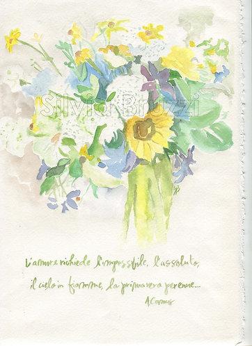 Biglietti augurali dipinti a mano SanValentino