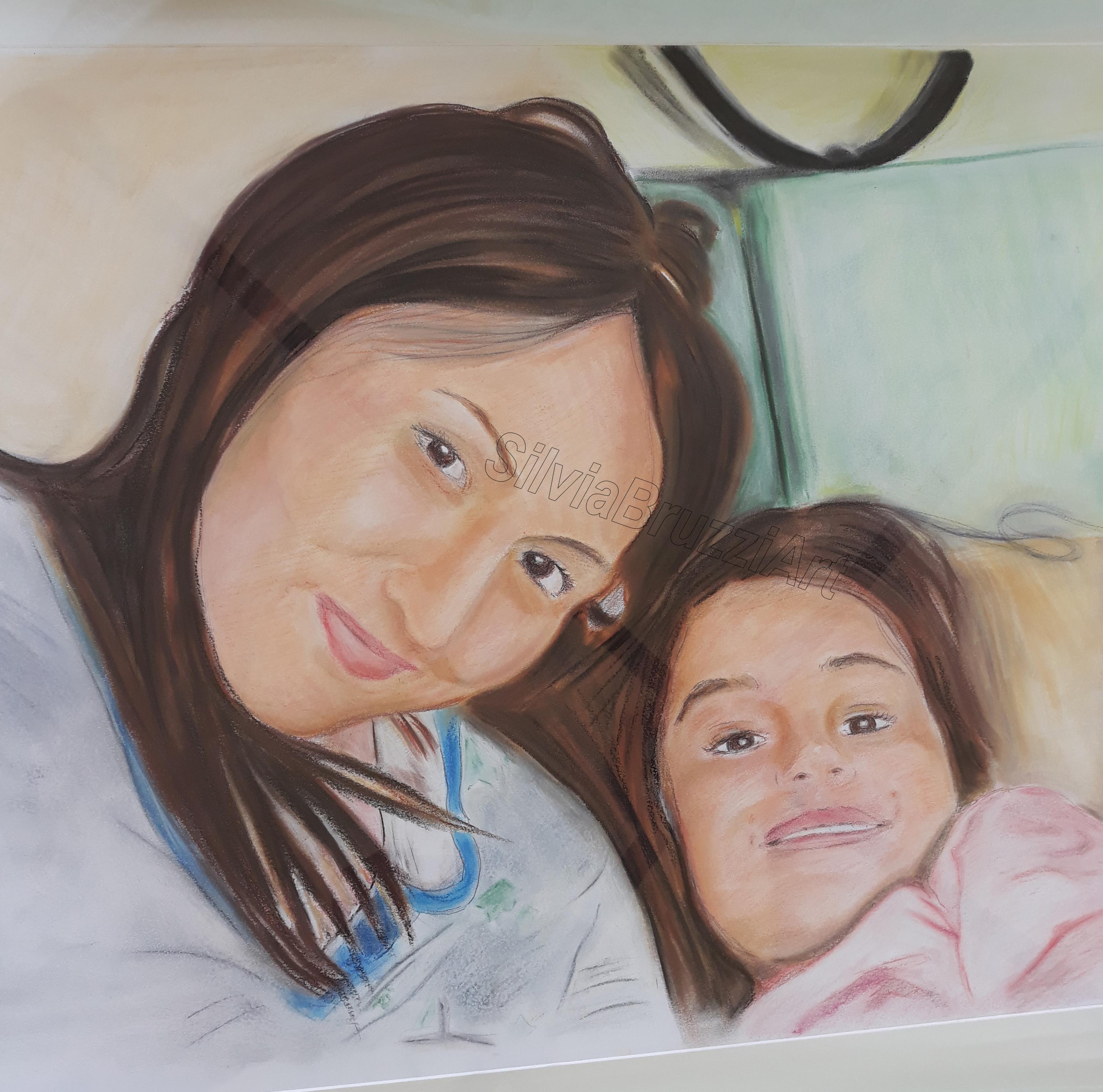 ritratto mamma e figlia