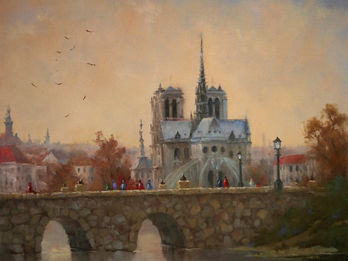 """Evening on the Seine"""