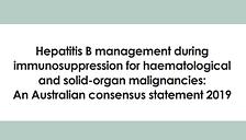 Hepatitis B management during immunosupp